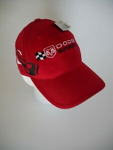 Dodge Motorsports Racing Nascar Hat RED Checkered Flag NEW W/ TAGS FREE SHIPPING