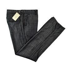 New BRIONI Sunset Handmade Cashmere Cotton Black Denim Jeans 36 NWT $695!