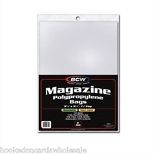 "1 Pack (100) BCW 8 7/8"" x 11 1/8"" Resealable Thick Magazine Storage Bags"