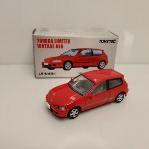 Rare Tomica Limited Vintage Neo Honda Civic SiR-II EG6 Red LV-N48a Japan