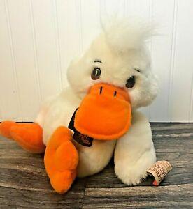 "24K Polar Plush Special Effects 9.5"" White Duck Plush w/tags - 1991 Richmond Gor"