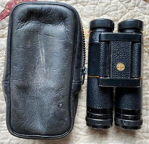 Vintage Leupold 9x25 Golden Ring Compact Binoculars With Original Leather Case.