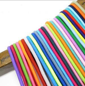 20meters 25clors 2.5mm colorful Round Elastic Band Rubber Elastic Oootdoor Rope