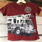 Fire Dept. Capt The Children's Place 3T T-shirt Ladder Fire Truck Brick Red S/S