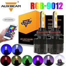 2x AUXBEAM 9012 LED Headlight Conversion Bulbs Hi/Low Beam APP Control RGB DRL