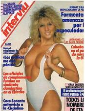 INTERVIU # 598 / DEBORAH MERINO 6 pages pictorial - Spanish magazine 1987 - EX+
