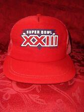 Collectible 1989 Super Bowl Xxiii Bengals 49ers Mesh Adjust Snap Back Cap Hat
