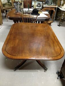 Antique English Banded Cherry Tilt-Top Dining/Breakfast Table c. mid-1800s