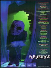 BEETLEJUICE__Orig. 1989 Trade AD / award promo_poster__TIM BURTON_MICHAEL KEATON