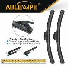 "ABLEWIPE 24""&18"" Fit For Lexus RC Turbo 2017 Windshield Beam Front Wiper Blades"