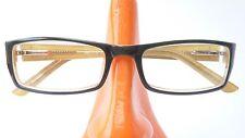 Glasses Frame Plastic Socket Women Narrow Angular Dark Green Spring Clip Size M