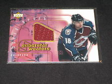 CHRIS DRURY AVALANCHE LEGEND CERTIFIED AUTHENTIC GAME USED HOCKEY JERSEY CARD