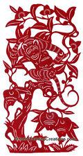 Chinese Folk Art Chinese Paper Cuts: Chinese Zodiac Symbols - Monkey