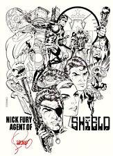 Jim Steranko SIGNED Marvel Comic Art Print ~ Nick Fury Agent of Shield