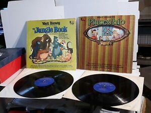 Walt Disney Pinocchio, Jungle book 12 Inch Records