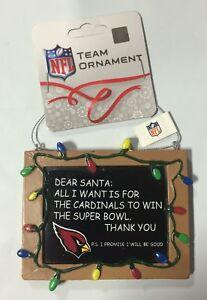 Arizona Cardinals Christmas Tree Ornament Chalkboard - All I want is a Superbowl