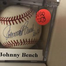 Johnny Bench HOF 89 autographed MLB baseball PSA
