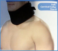 Adjustable Soft Cervical Collar (Neck Brace), Foam, Size M, BLACK NEW MODEL