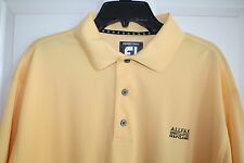 FootJoy Large ProDry Polo Golf Shirt L Yellow Logo Golf Classic Pique