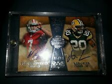 2011 Topps Five Star Colin Kaepernick Alex Green auto serial #ed 20