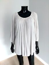 Comptoir des Cotonniers designer pleated cotton knit jumper beige sz. XL
