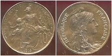 FRANCE  FRANCIA  10 centimes DUPUIS  1916   ( SUP + )