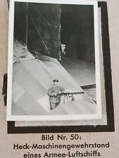 1933 Zeppelin Weltfahrten Cigarette Card German Photo 50 Stern Machine Gun
