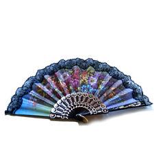 ღ OLE SCHWARZ 3 ღ Flamenco Tanz- Fächer Handfächer Blumen Spitze Spanien