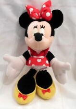 """New listing 16"""" Vintage Disney Minnie Mouse Applause Stuffed Animal Plush Toy Doll Red Dress"""