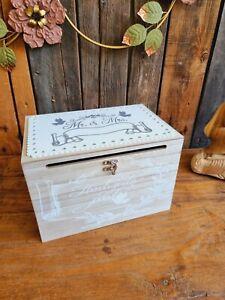 Mr & Mrs Holz Truhe Hochzeit Kartenbox Geldbox Briefbox Glückwunsch Geschenk