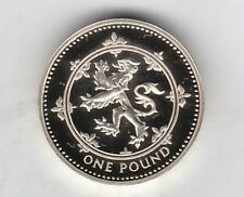 More details for boxed 1999 scottish lion standard silver proof pound with certificate.