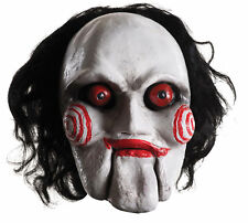 Billy the Puppet Full Adult Mask SAW Latex Horror Villian Halloween