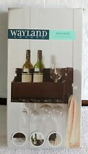 New Wine Shelf Rack Wayland Square Mounted Wall Hanging bottle glass towel hook