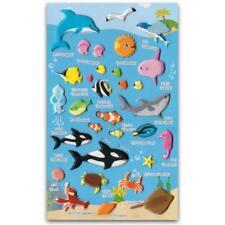 Lindo Vida Marina Pegatinas Océano Animales Pez Manualidades Scrapbook Relieve