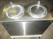 Servolift Mobile Plate Dispenser Caddy Dolly on casters stainless steel