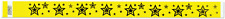 Yellow Star Explosion TYVEK Wristbands 500 in a pack