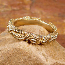 WREATH OF LEAVES & BERRIES 14k Yellow Gold - Ring Size 8
