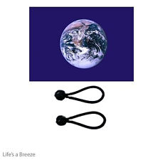 Planet Earth Flag 5 x 3ft Flag Poles Or Windsocks Poles.With FREE  BALL TIES