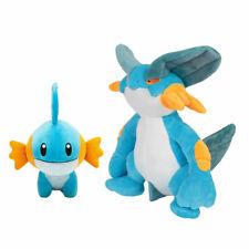 Set of 2 Pokemon Swampert and Mudkip Soft Plush Doll Stuffed Figure Toy Gift