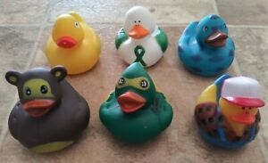Assorted Rubber Ducks Lot Of 6