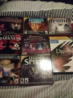 PC Games Lot Of 8 Vintage CD Computer Games, DRAWN DEVILS TRIANGLE PLUS MORE