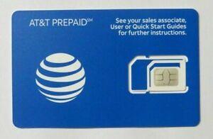 NEW AT&T POSTPAID & PREPAID 4G 5G LTE TRIPLE SIM CARD 3 IN 1 Att Micro Nano Lot