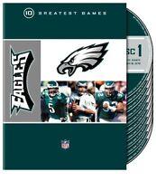 NFL: Philadelphia Eagles - 10 Greatest Games [10 Discs] (2009, DVD New)