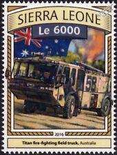 E-ONE TITAN Fire Engine Field Truck Vehicle (Australia) Stamp/2016 Sierra Leone