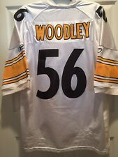 Reebok Onfield LaMarr Woodley PITTSBURGH STEELERS White Football Jersey Lg 48 👀