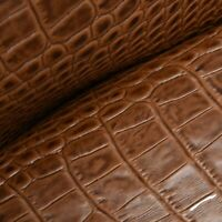 """N Spotted Dark and Medium Brown Leather Hair on Cow Hide 4/"""" x 6/"""" Pre-cut"""