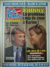 AFFICHE PROMO ICI PARIS JOHNNY HALLYDAY STEPHANIE