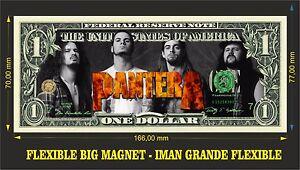 PANTERA IMAN BILLETE 1 DOLLAR BILL MAGNET