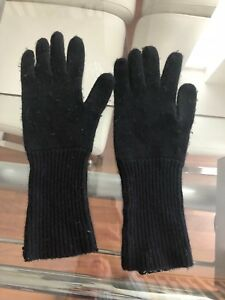 BANANA REPUBLIC 100% Cashmere Black Gloves Retail $85