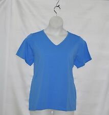 Bob Mackie Solid Knit T-shirt Size S Blue